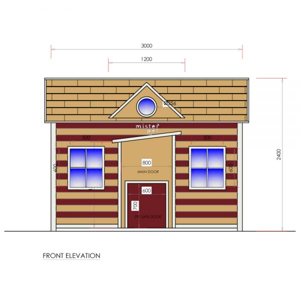 DH12001 dog house dubai design