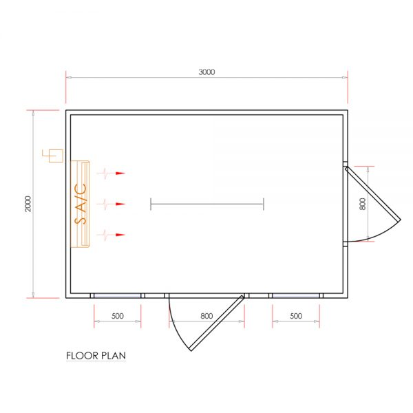 dog house with ac DH12001
