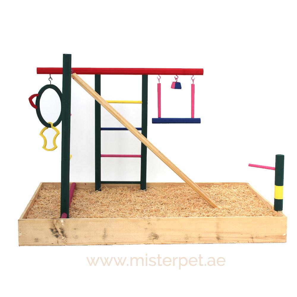 Ihram Kids For Sale Dubai: Wooden Bird Playpen, Parrot Play Stand / Bird Playground