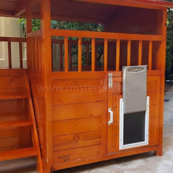 wooden dog house abu dhabi uae