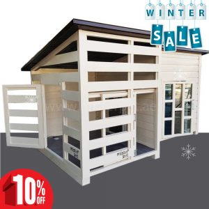 large dog house with ac winter
