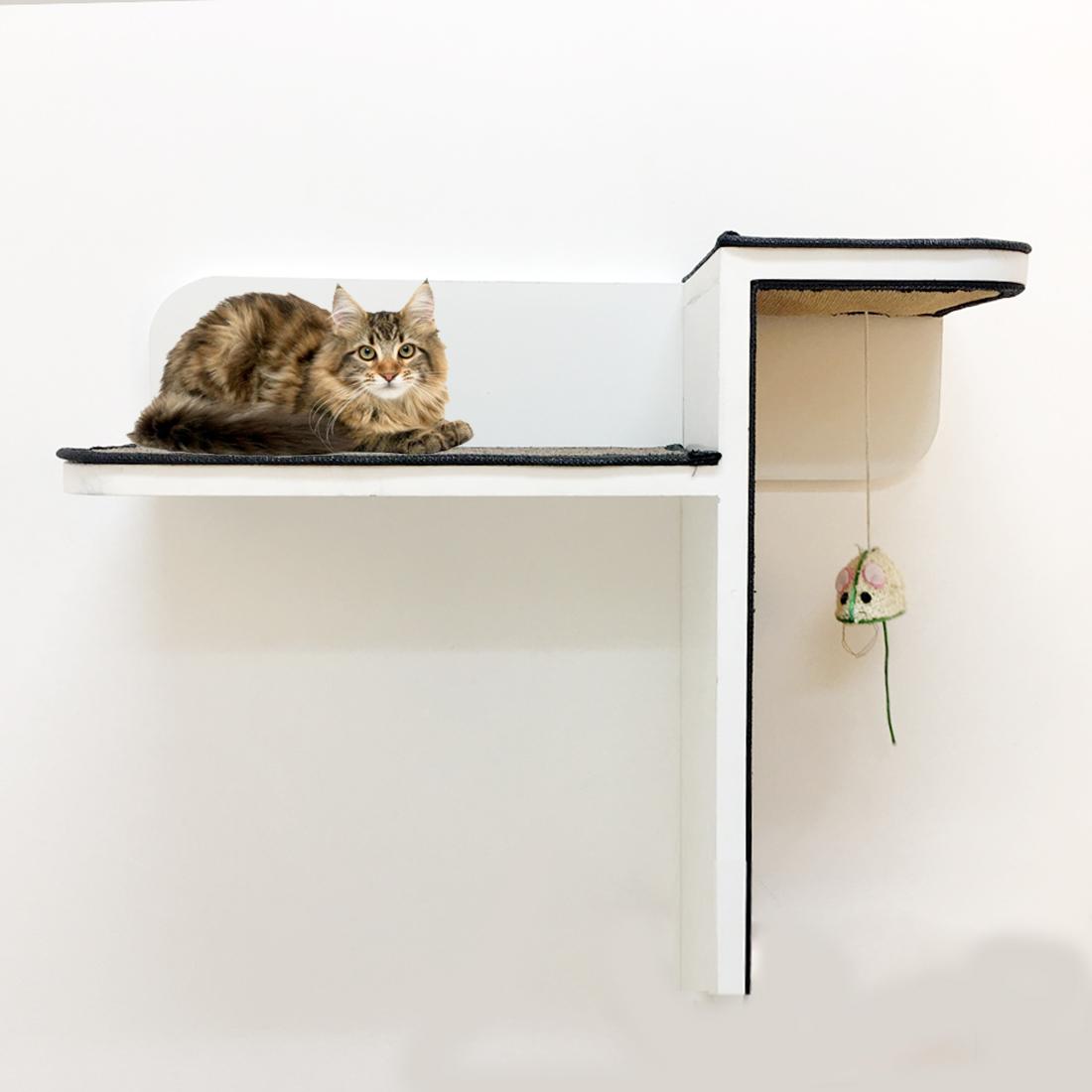 cat climbing wall shelves best cat shelves for sale in dubai uae rh misterpet ae